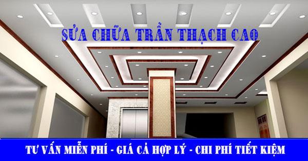 Sửa trần thạch cao giá rẻ tại quận Tân Bình