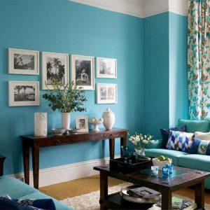 Sơn tường nhà màu xanh ngọc bích