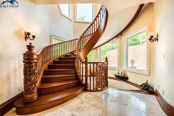 Tay nắm cầu thang bằng gỗ đẹp
