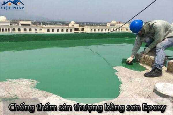 Dùng sơn Epoxy để chống thấm sân thượng