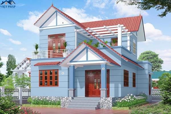 Ngôi nhà trang trí màu xanh nhẹ nhàng đẹp mắt
