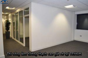 Thi công làm tường thạch cao giá rẻ - chất lượng tại TP.HCM