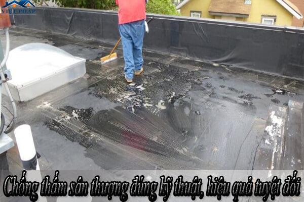 Chống thấm sân thượng đúng kỹ thuật, hiệu quả tuyệt đối