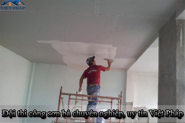 Đội thi công sơn bả chuyên nghiệp, uy tín, giá rẻ Việt Pháp