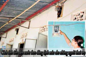 Cách tính tiền điện nước theo đúng định mức cho những người thuê trọ