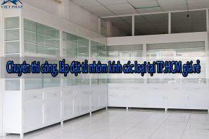 Chuyên thi công, lắp đặt tủ nhôm kính các loại tại TP.HCM giá rẻ